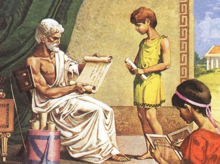 Воспитание в древних Афинах