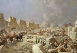 Вступление русских войск в Самарканд 8 июня 1868 года в рамках «Большой игры».