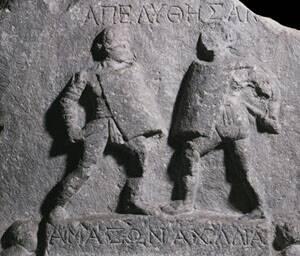 Сражающиеся женщины-гладиаторы.