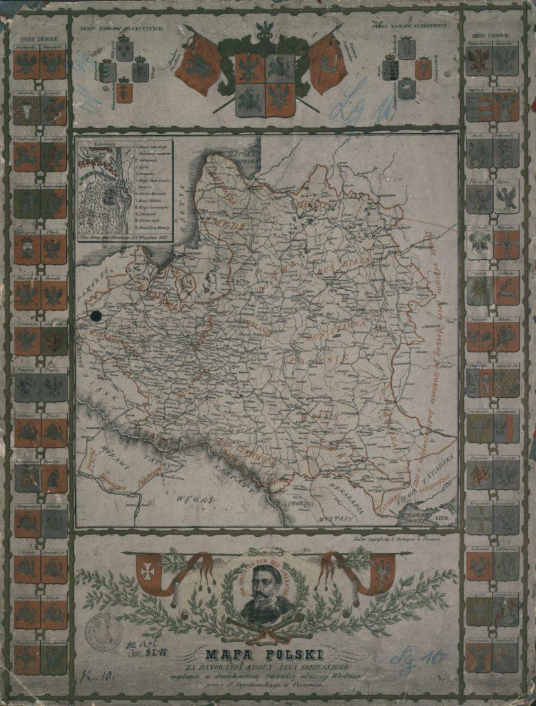 Карта Речи Посполитой во время правления Яна Собесского