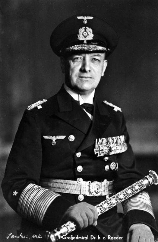 Эрих Редер, Главнокомандующий ВМС Германии в 1935—1943 годах