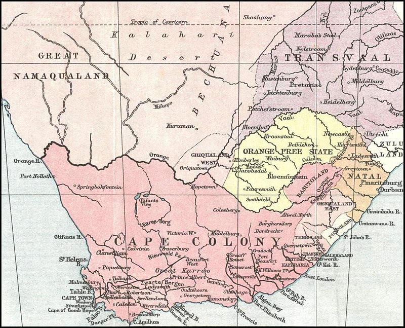 Капская колония в 1878 году