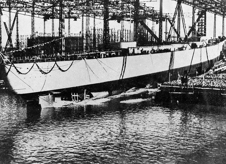 Спуск на воду линкора «Бисмарк»
