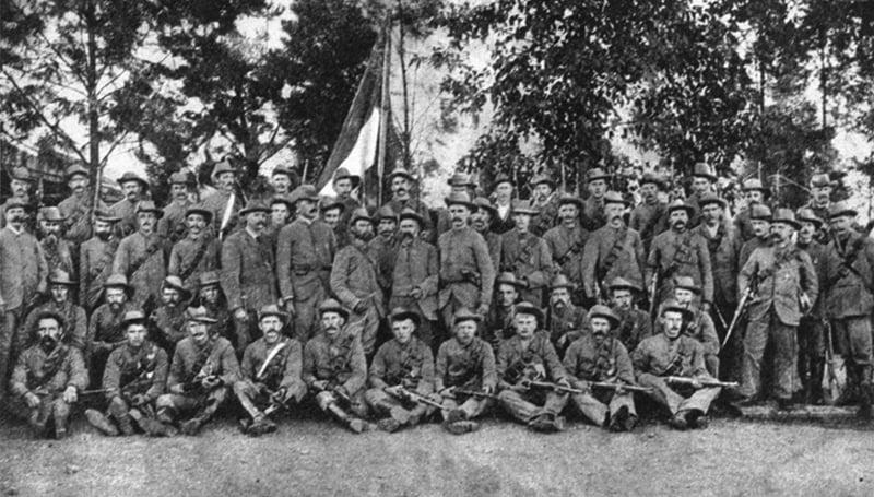 обровольцы из Скандинавии и Финляндии во время сражения у Магерсфонтейна (Западный фронт)