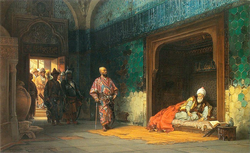 Станислав Хлебовский, «Пленение Баязида Тимуром», 1878 год