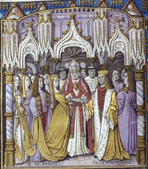 Венчание Генриха V и Екатерины Валуа.