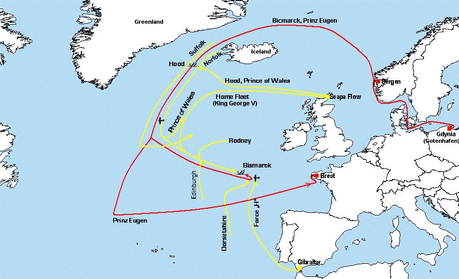 Атлантический рейд «Бисмарка» и его перехват