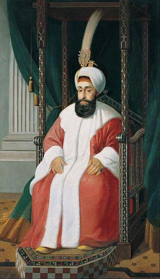 Султан Селим III. Посмертный портрет 1850 года.