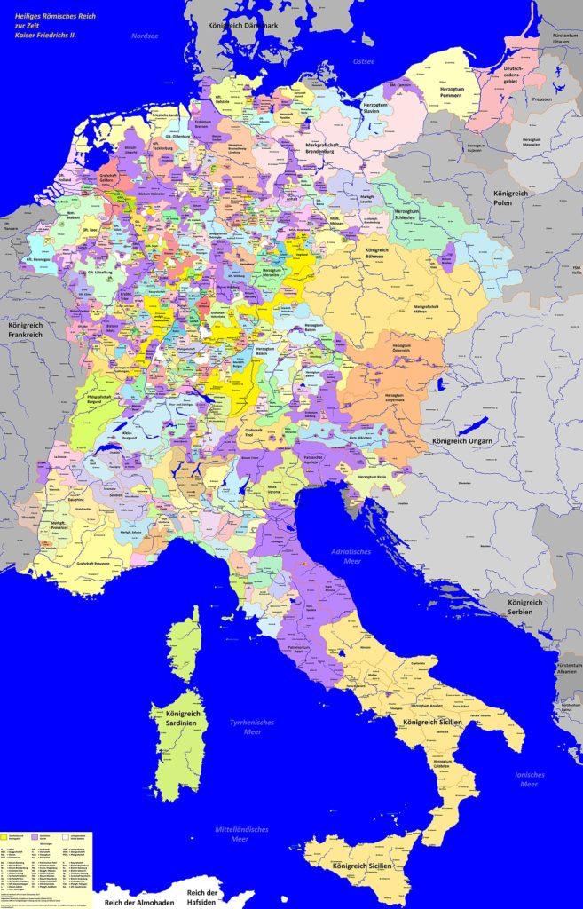 Священная Римская империя в 1250 году