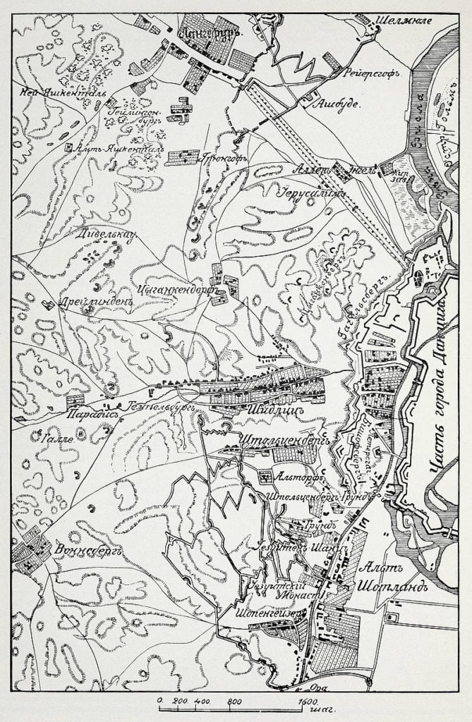 План осады Данцига в 1813 году