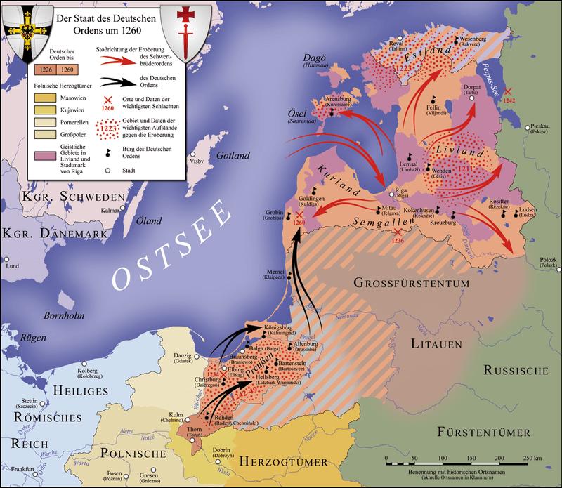 Экспансия Тевтонского ордена в Прибалтике