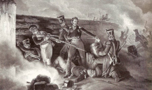 Пеллетье де Шамбюр Лорен Огюст штурмует испанские укрепления