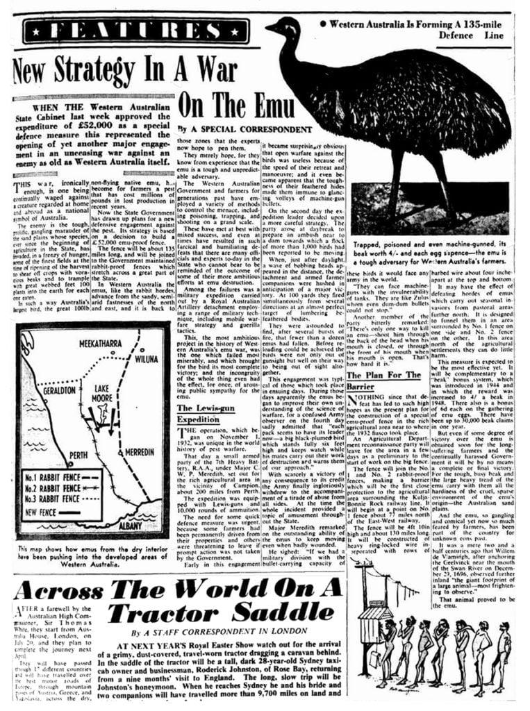 Заметка в австралийской газете 1932г
