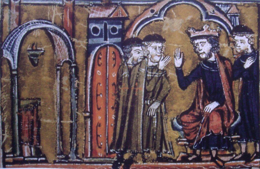 Король Балдуин II Иерусалимский передаёт захваченную мечеть Аль-Акса во владение Гуго де Пейна и Годфри, для использования её в качестве штаб-квартиры. Крестоносцы называли это здание Храма Соломона, отчего и пошло название нового Ордена — тамплиеры, то есть храмовники или рыцари Храма