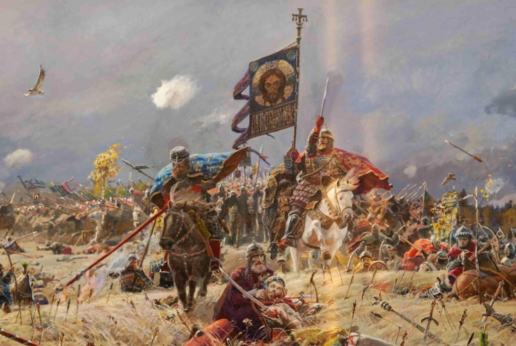 Войска галицкого князя идут в атаку