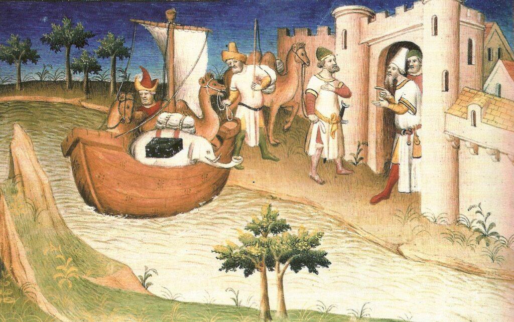 Миниатюра из книги Марко Поло