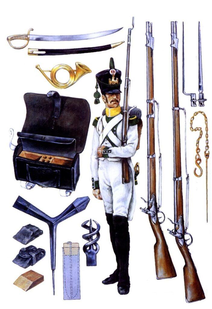 Драгунское ружьё, состоявшее на вооружении вольтижёрских полков.