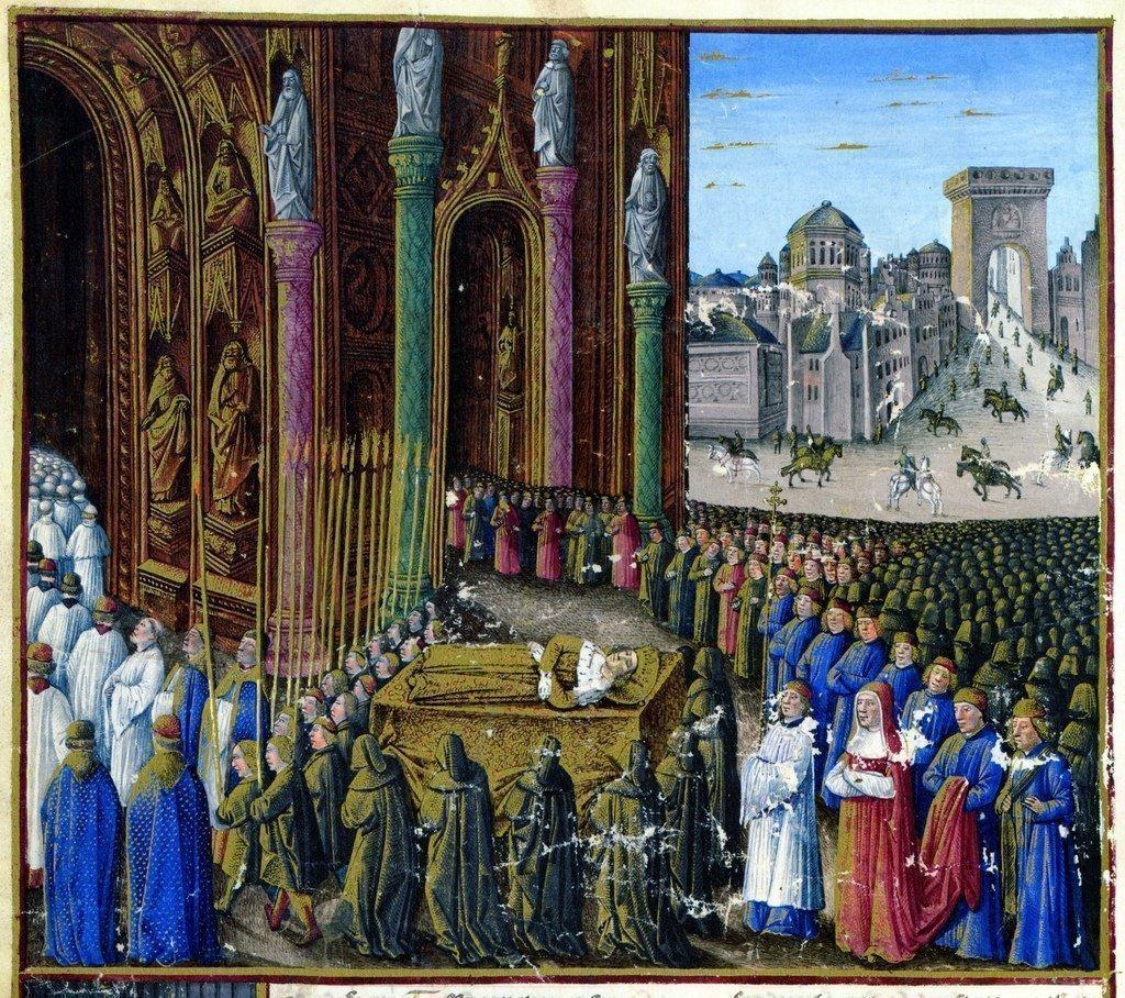 Похороны Балдуина IV.