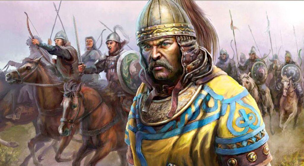 Хан Котян со своими войском