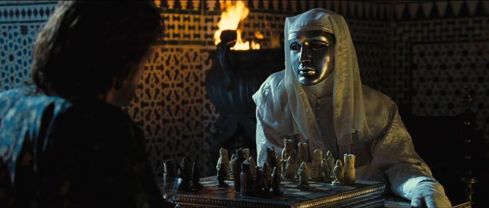 Эдвард Нортон в роли Балдуина Прокажённого в фильме «Царство небесное».