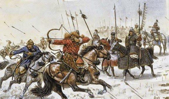 Татаро-монголы в бою