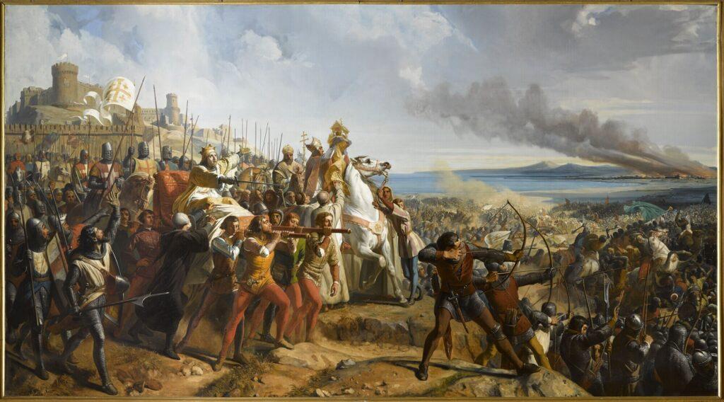 Балдуин IV командует войсками при Монжизаре.
