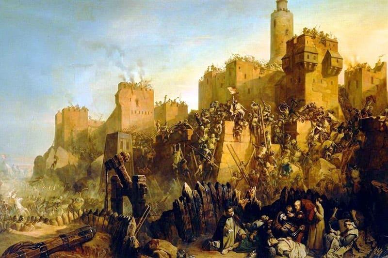 Штурм Сен-Жан д'Акра тамплиерами. Третий крестовый поход