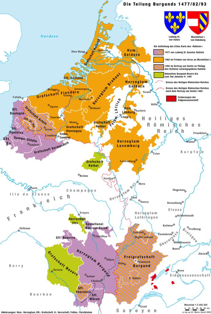 Бургундские земли в правление Максимилиана