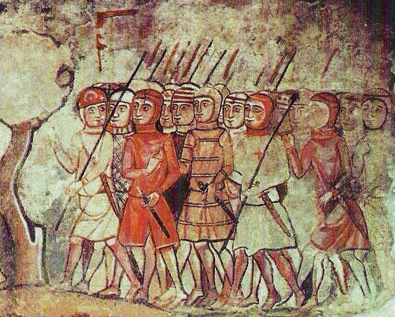 Войска альмогаваров во время завоевания Мальорки