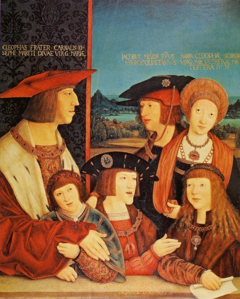Бернхард Штригель. Император Максимилиан I и его семьи