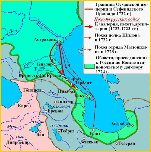 Земли, которые отошли России по Константинопольскому мирному договору