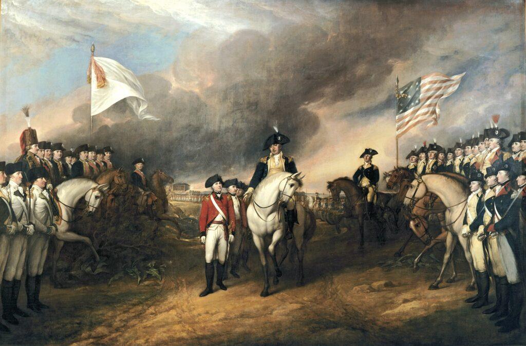 Капитуляция британских войск при Йорктауне, 19 октября 1781
