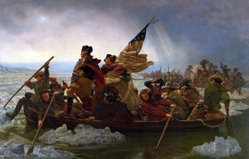 Вашингтон форсирует Делавэр, 25 декабря 1776
