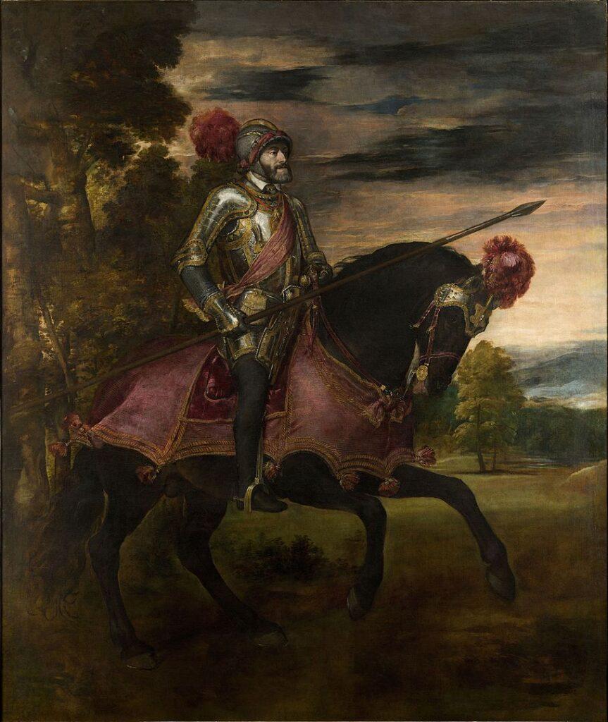 Тициан. Карл V в сражении при Мюльберге (1548)