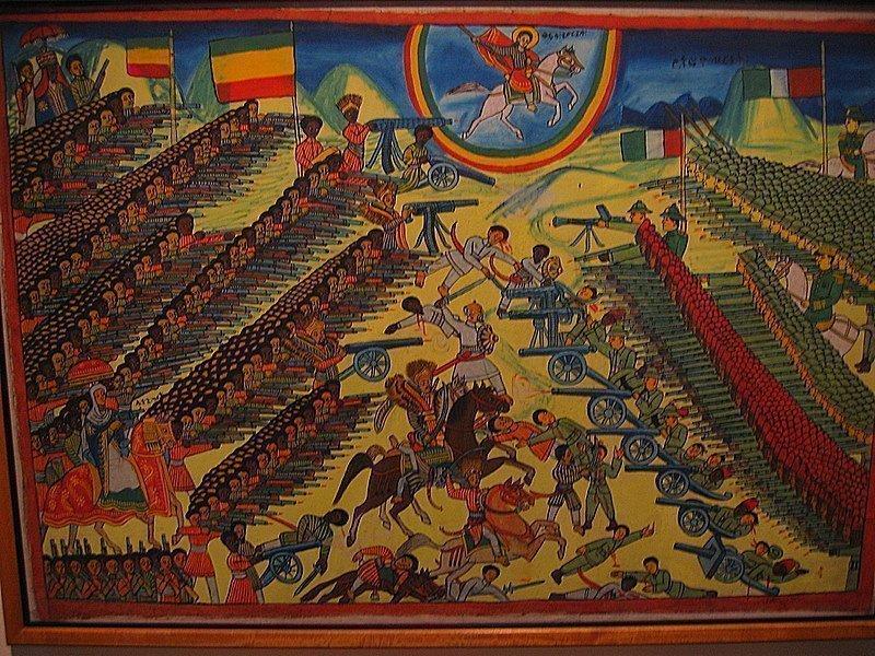 Эпизод Итало-эфиопской войны в представлении эфиопского художника