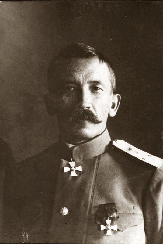 Главнокомандующий войсками Петроградского военного округа генерал-лейтенант Л.Г. Корнилов