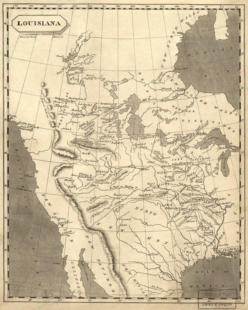 Карта Луизианы
