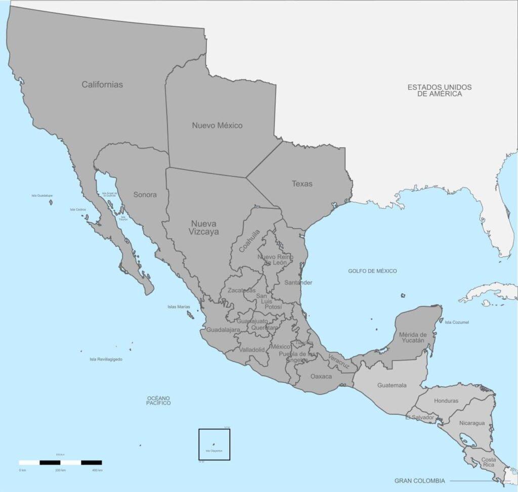 24 провинции Мексиканской империи