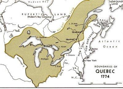 Территория Квебека после экспансии