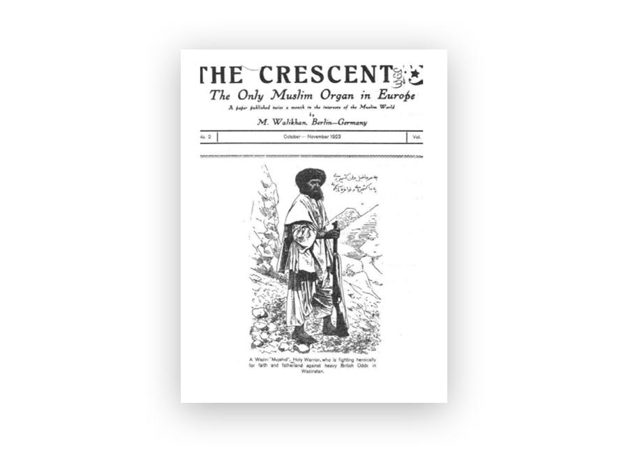 Антибританский мусульманский журнал «Полумесяц», выпускавшийся в Берлине в 1923 году