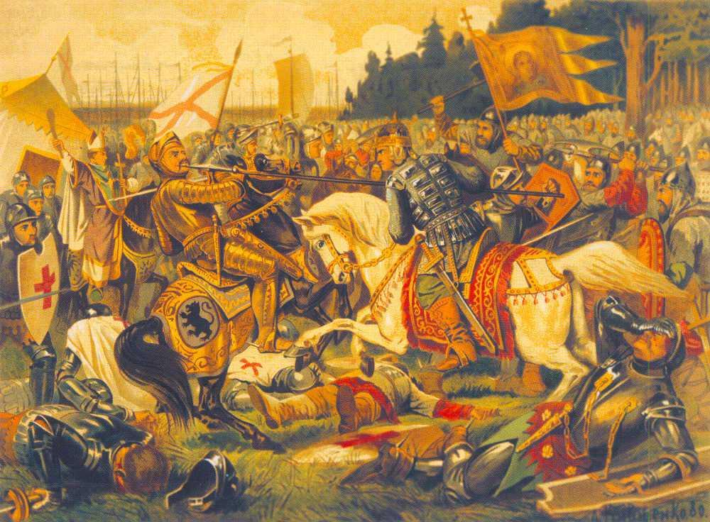 «Бой Александра Невского с ярлом Биргером» (картина А. Кившенко)