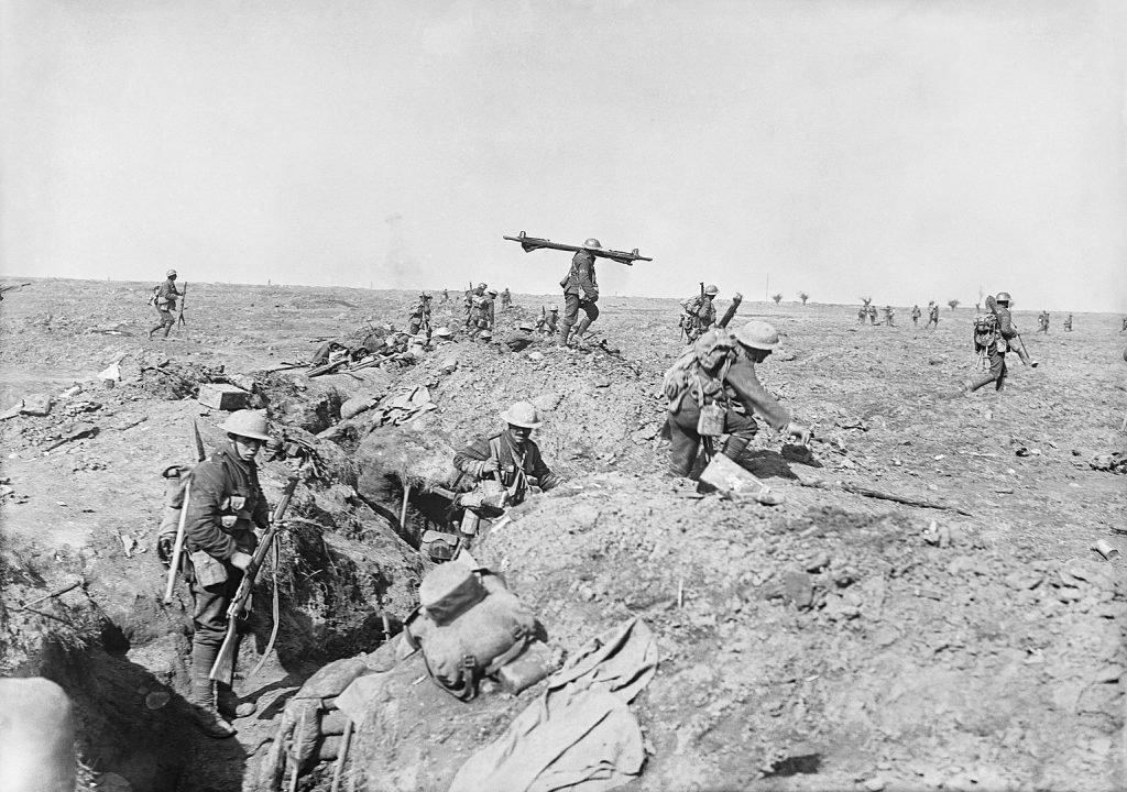 Британская пехота в битве на Сомме