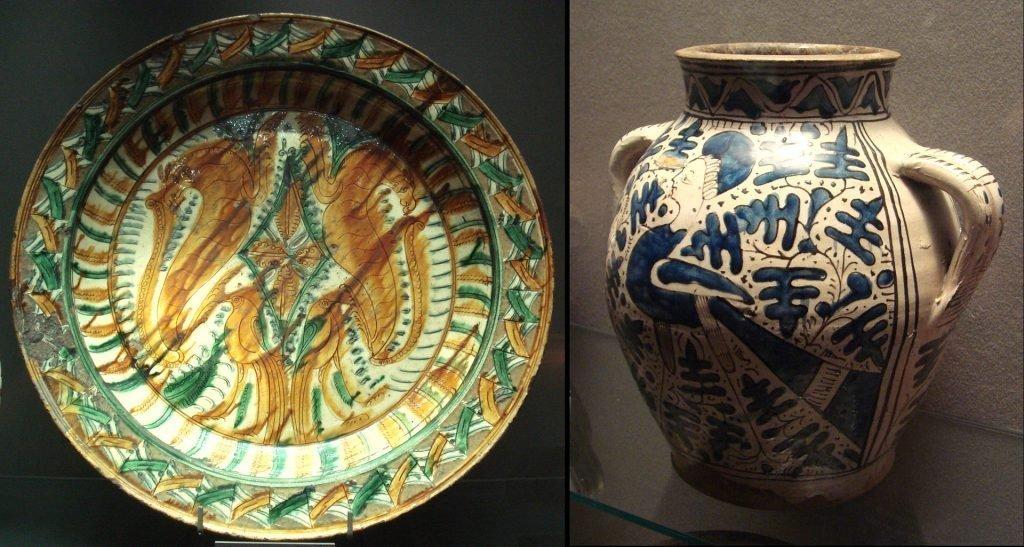 Итальянская посуда XV века, изготовленная в подражание китайской