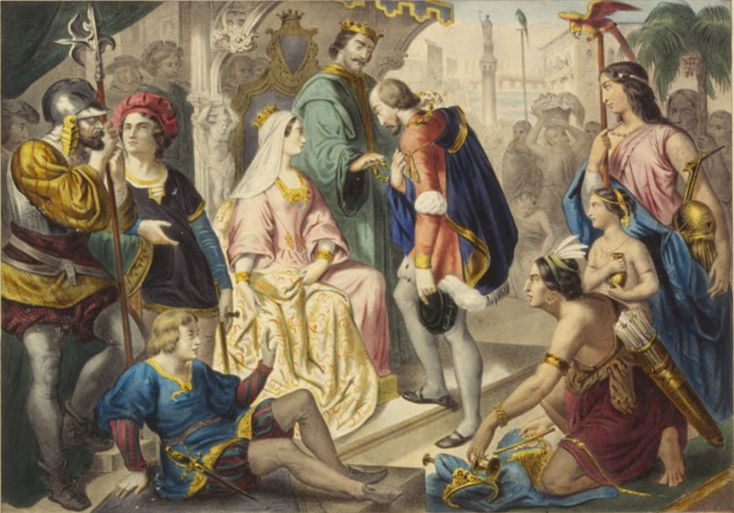 Христофор Колумб и Католические короли (Возвращение Колумба в Испанию)