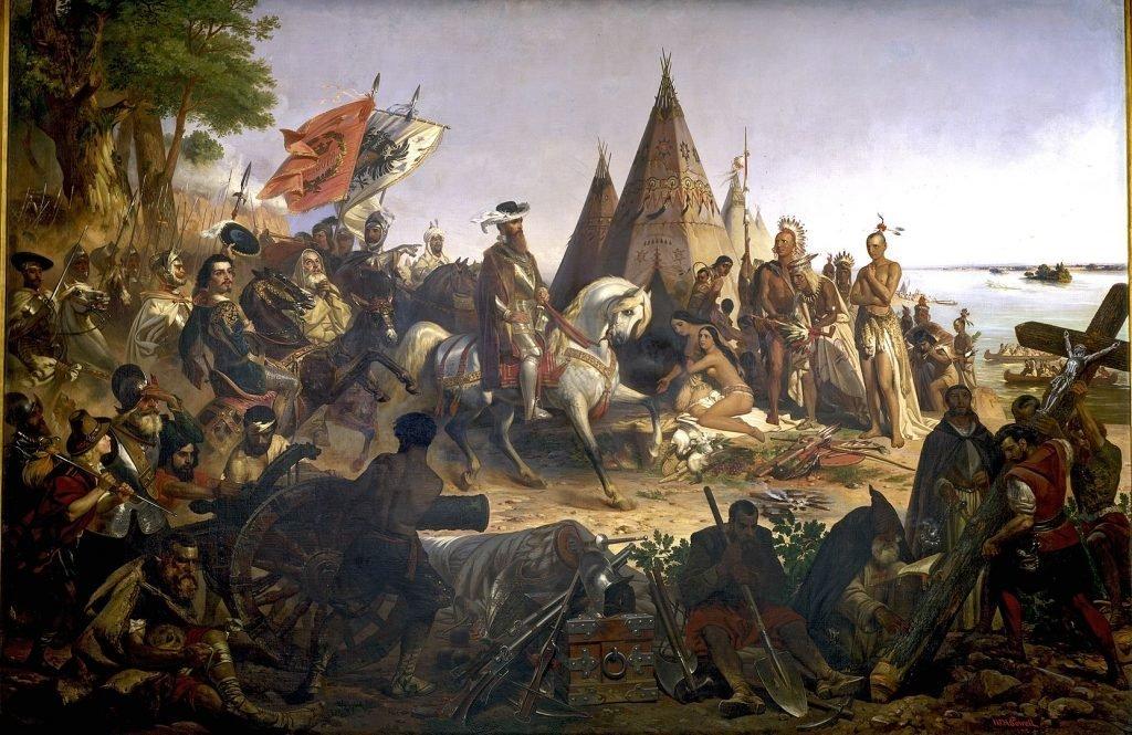 Уильям Генри Пауэлл. «Открытие реки Миссисипи конкистадором Эрнандо де Сото в 1541 г.». 1853 г.