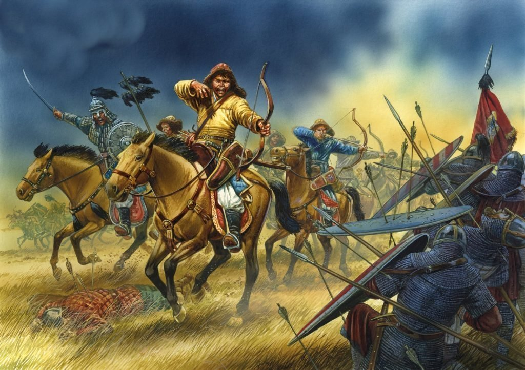 Татаро-монголы идут в атаку