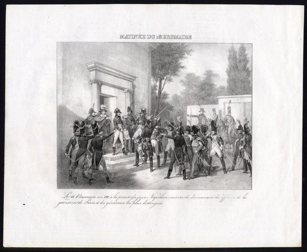 Встреча Наполеона с генералами утром 18 брюмера. Маду (1827)