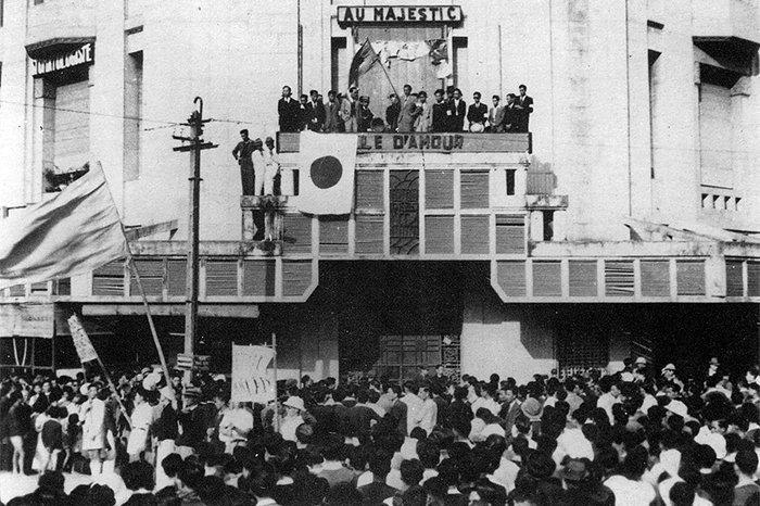 Японские войска у порта Хайфон.